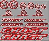 Ecoshirt 0W-O0FL-EU8U Aufkleber Ghost Bici R207 Stickers Aufkleber Decals Autocollants Adesivi, rot