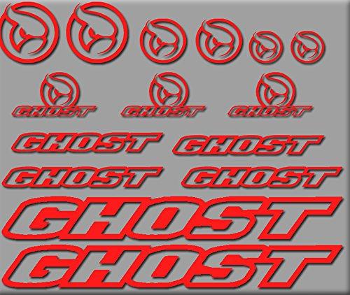 Ecoshirt 0W-O0FL-EU6U Pegatinas Ghost Bici R207 Stickers Aufkleber Decals Autocollants Adesivi, Rojo