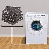 LouMaxx Antirutschmatte Waschmaschine 4 Stück im Set 10x10x1,5 cm Waschmaschinen Unterlage-Anti Vibrationsmatte - 3