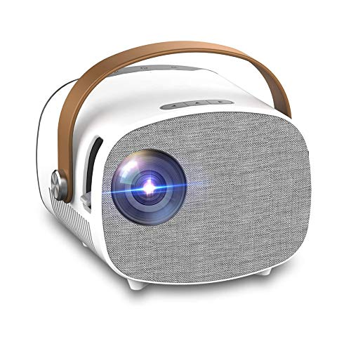 Vosda Proyector, Proyector Portátil, 1800 Lúmenes, Soporta 1080p Full HD, Cine en Casa 100' Duplicar Pantalla para Android/iPhone Smartphone iPad,HDMI/USB/VGA/AV/SD