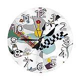 Reloj de Pared Bauhaus Dreams, Reloj de Pared silencioso de Cuarzo de Calidad sin tictac