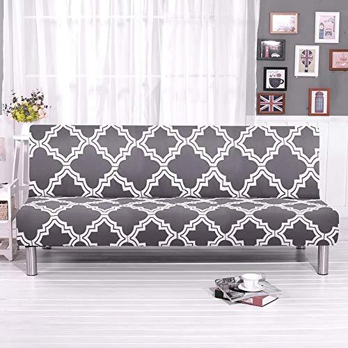 SSDLRSF Fundas sofá Funda de sofá Cama Impresa de 150-185 cm, Fundas de sofá Cama sin Brazos de tamaño Universal, Envoltura de Toalla para sofá, Fundas elásticas para Muebles