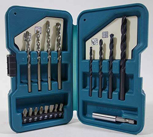 Makita D-40216 Bit & Boor Set 17-delig In kunststof koffer.