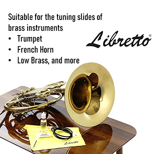 Libretto Premium Brass Slide Grease Stick, 0.16 oz (5 ml), Odorless & Pure, Great Materials from Japan, 100% Special-blended Formula, Thick & Sticky, Best to Extend Life of Trumpet, French Horn & Tuba