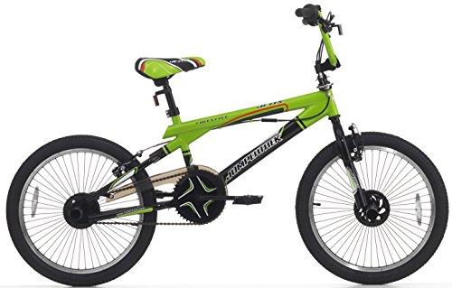 Cicli Cinzia Bicicletta 20 BMX Acciaio Jetix Nero/Verde kawa 2157