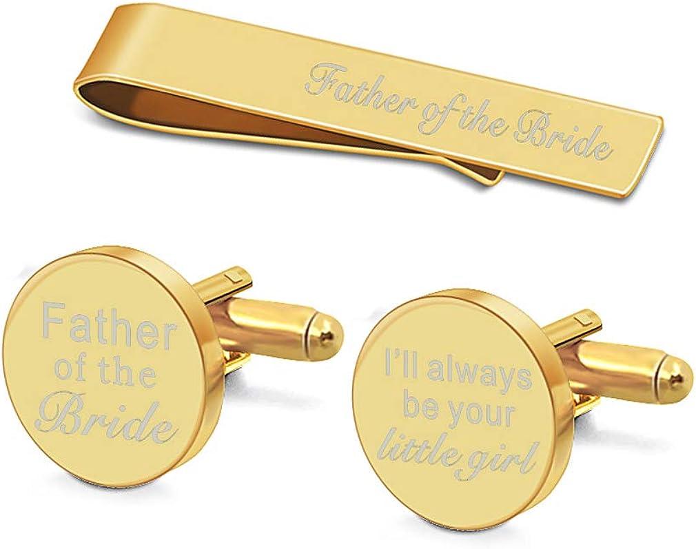 Custom Cufflinks Cufflink Box-Wedding party gift-Stepfather Gift Stepfather Of the Bride Personalized Cufflinks Wedding