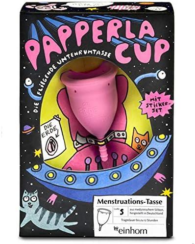 Papperlacup by einhorn - Copa menstrual de silicona médica, sostenible, fabricada en Alemania (pequeña)