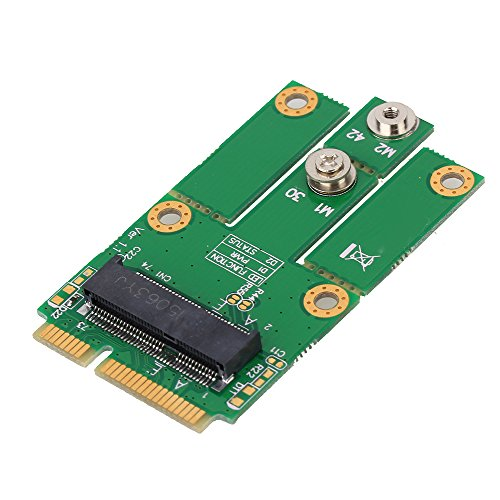 BQLZR M.2 (NGFF) Key E to mPCIe (PCIe+USB) Converter Adapter Support Full/Half Size