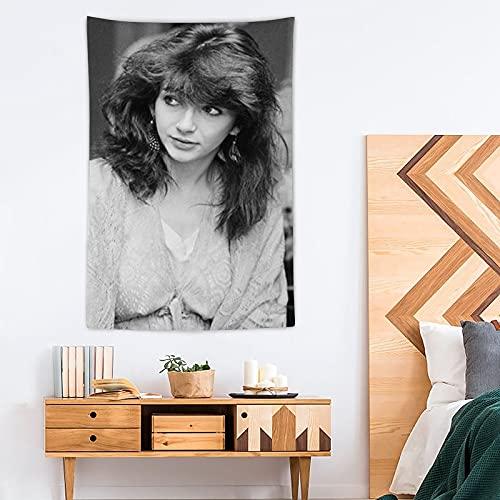 SDFGE Kate Bush Tapiz Pop Art - Tapiz de poliéster - Decoración del hogar - 100 x 150 cm