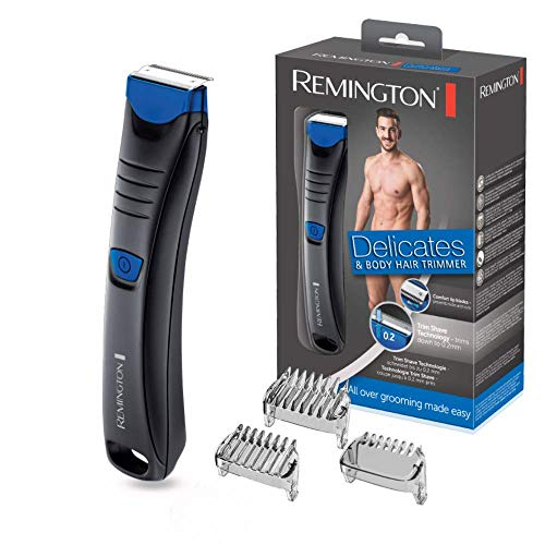 Remington Delicates BHT250 - Afeitadora Corporal, Cuchillas de Acero Inoxidable,...