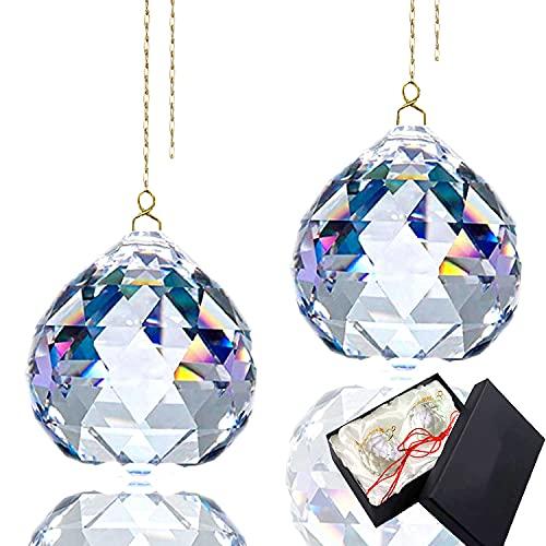 Bola de cristal prisma receptor sol cristal cristal Prisma colgante transparente bola...