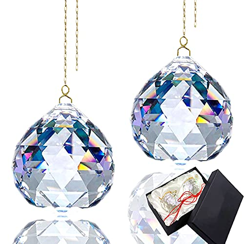 Bola de cristal prisma receptor sol cristal cristal Prisma colgante transparente bola de Cristal Prisma Arcoíris Cristal Prisma Bola Para Boda/Hogar/Ventana/Feng Shui/OficinaDecoración