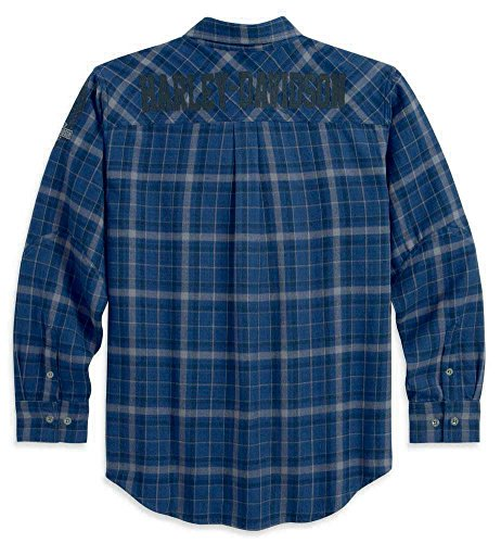 HEFASDM Mens Classic-Fit Long Sleeve Non-Iron Striped Flannel Shirts