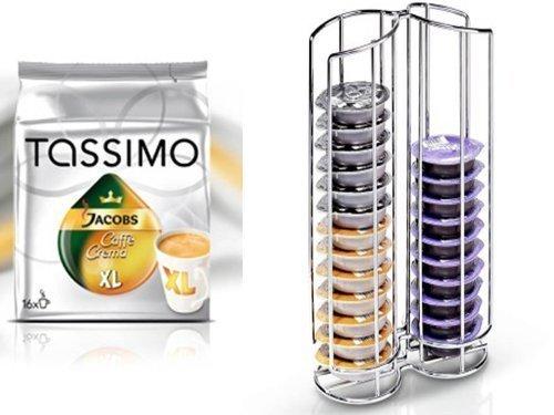 Tassimo Jacobs Krönung Caffè Crema XL + Kapselständer Neu passend für 32 Discs