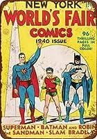 1940年ニューヨークワールドフェアコミックヴィンテージルックリプロダクションメタルティンサイン