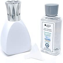 Maison Berger   Lamp Berger Model Curve   Home Fragrance Diffuser   Purifying and Perfuming   5x3x3.5 inches   Made in France   Includes a 6.08 Fl. oz Fragrance Bottle of Ocean Breeze (White)