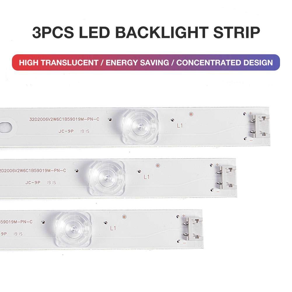 Euopat Lámpara 6 de retroiluminación LED para LG 32