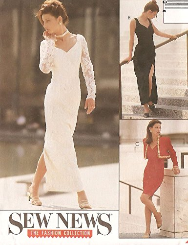 McCall's vintage sewing pattern 6779 sweetheart evening gown and bolero jacket - Size 10-12-14