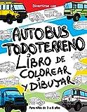 Autobus Todoterreno: Libro de colorear y dibujar para niños de 3 a 8 años: Diviértete con tu hijo coloreando autobuses 4x4 modernos y antiguos y ... libro para colorear para niños hasta 8 años