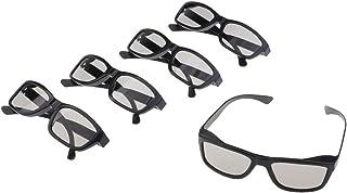KESOTO 5x óculos 3D Passivos para, Toshiba E Outras Televisões 3D Passivas - Preto