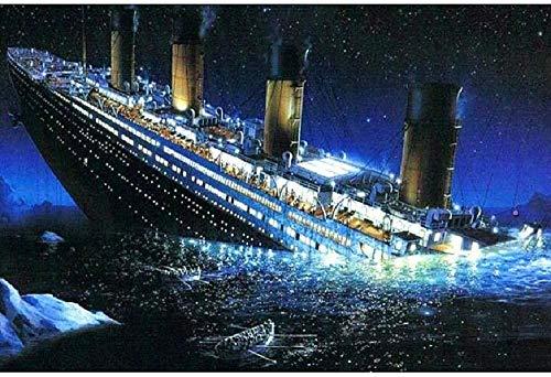 WXLSL Puzzles Rompecabezas De Madera 1000 Piezas Hundido Titanic De Gran Tamaño 1000 Piezas De Rompecabezas De Madera, Decoraciones para El Hogar Únicas Y Regalos