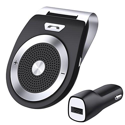 zhuanjiao Kit Mains Libres pour Voiture Bluetooth 4.1 Allumage Automatique par capteur de mouvement intgr,Support du GPS, Musique, Handsfree Bluetooth Car Kit Wireless SpeakerPhone for the sun visor...