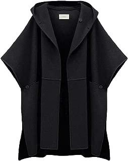 neveraway Womens Batwing Half Sleeve Coat Winter Wool Poncho Cape Top Jacket