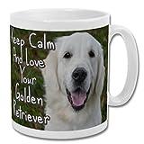 Keep Calm and Love Your Golden Retriever - Taza de 10 onzas