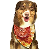 RAHJK Bandana para Perro, Pañuelos para Perro, Reversibles, Ajustables, Triangulares, Bufandas para Mascotas y Gatos Cool Pepperoni Pizza