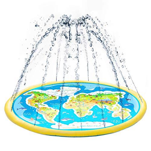 WWXXCC Almohadilla de salpicaduras, rociador al aire libre para niños, tapete inflable para juegos de salpicaduras, juguetes de agua para niños, niños y bebés regalos