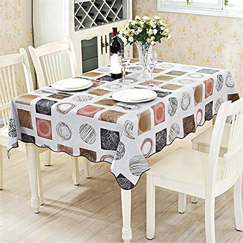 remote.S Mantel para Mesa Rectangular Impermeable Lavable Mantel de Tela Oxford PVC para Cocina Comedor Fiesta Boda 137 X 183 cm