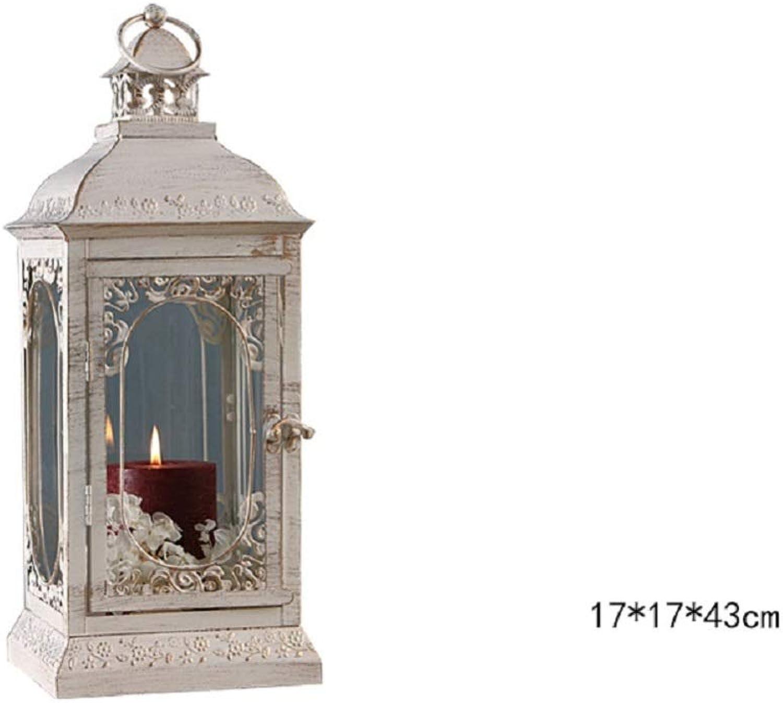 VIOY Geschnitzte schmiedeeiserne Windlampe Kerzenstnder Kerze Dekoration Romantische Hochzeit Bodendekoration