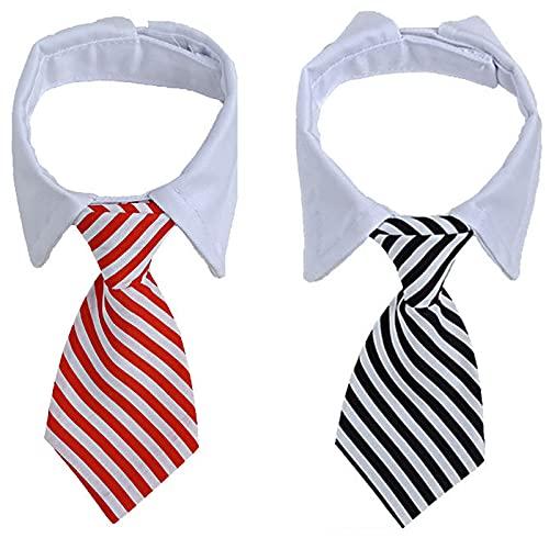 Collar Corbata Disfraz Perro Corbata Perro Grande Pajarita Animal Doméstico Ajustable Adecuado para Decorar Mascotas, Corbata Ajustable, Más Lindo Después de la Decoración de Mascotas (2 Piezas)
