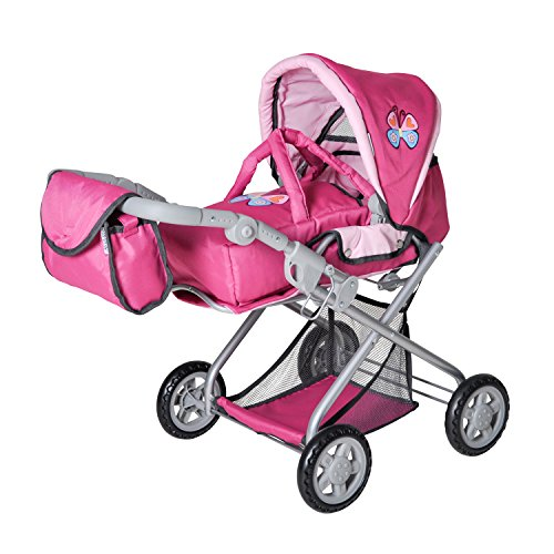 Knorrtoys 61888 - Puppenkombi Kyra - pink with butterfly