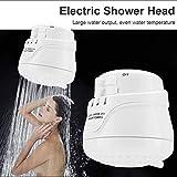 Cabeza de ducha eléctrica, 5400W del hogar eléctrica inyector de ducha Calentador de agua Calentador de cabeza + Super Flexible manguera de acero inoxidable + ducha de lluvia cabeza del aparato electr