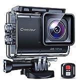 Crosstour CT9700 Echte 4K 50fps Action Cam Touchscreen LDC EIS Unterwasserkamera (Fernbedienung...
