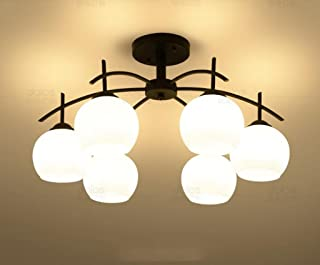 Iron LED Ceiling Living Room Bedroom Dining Room Lamps Book (Design : 6P)