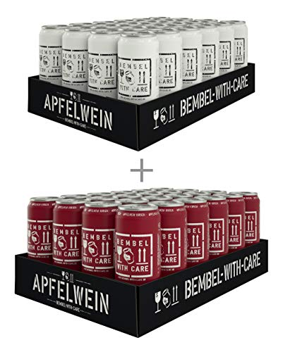 BEMBEL WITH CARE Apfelwein-Cola (24 x 500 ml) + Apfelwein-Kirsche (24 x 500 ml)