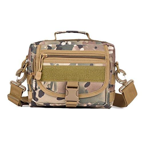 OME&QIUMEI Equitación Exterior Satchel Bag Bag Bag Camo Viajes Alquiler Bolsa De Paquete Kit De Accesorios Camuflaje