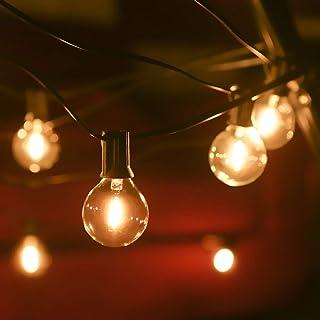 Outdoor String Lights Mains Powered 39FT G40 Bulbs Garden Hanging Festoon Lights,Tomshine IP45 Waterproof Indoor Outdoor T...