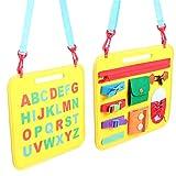 Toyvian Crianças Ocupadas Livro Montessori Atividades de Habilidades Básicas Pré-Escolar Aprendizagem Educacional Brinquedo Sensorial para Bebês Crianças Meninos Meninas