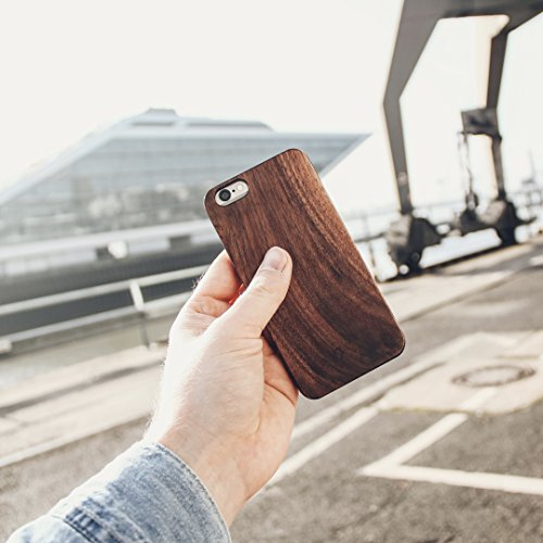 Woodcessories - Case Compatible with iPhone X/Xs of Real Wood, EcoCase Classic (Cherry/Black)