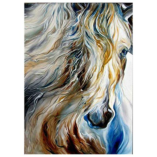 fine_fine 5D Diamond Painting, Animal Picture DIY Diamond Painting Cross Stitch, DIY Diamond Rhinestone Painting Kits for Adults and Children, Craft Home Deco (B)