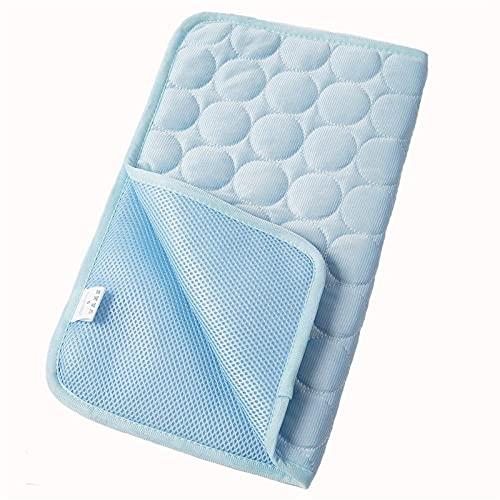 Kühlendes Hundesommerkissen Hund Katze Atmungsaktive Decke Haustier Eiskissen Waschbar Sofa Atmungsaktives Bett-hellblau_l 70x55cm. Kühlmatte Für Hunde Hundedecke Wasserdicht
