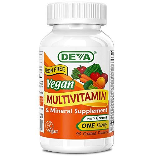 Deva, Multivitamine und Mineralien,vegan, 90 Tabletten, ohne Eisen