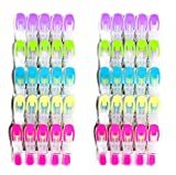 SOHFA Wäscheklammern - 50er Set Wäscheklammer- Klammern aus stabilem Kunststoff