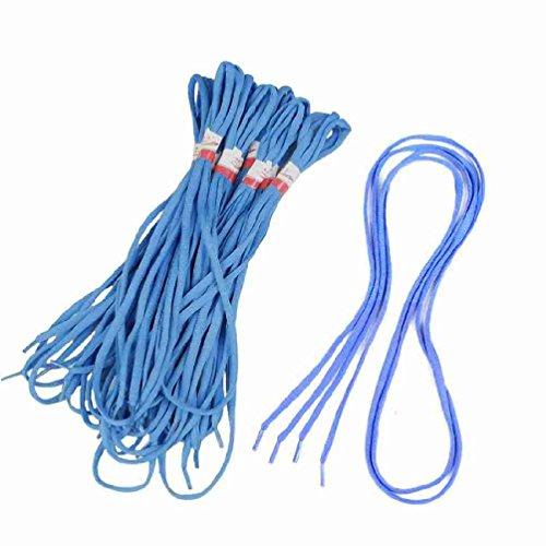 """Magentoo 10 Pair 47,2 """"Lange runde blaue Sportschuhe String Schnürsenkel"""