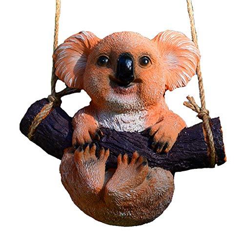 anyuq66qq Decoración Navideña Atrezzo Adornos Para El Hogar Resina Artesanía Casa Linda Oficina Paisaje Jardín Estatua Columpio Koala Animal Cartoon Figurita Accesorios, 4