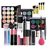 Juegos de Maquillaje para Mujer, Set de Maquillaje Profesional de 29 Piezas, Organizador de Maquillaje de Viaje Portátil - Kit de Cosméticos Completo Con Sombras de ojos Lápiz Labial Ocultador
