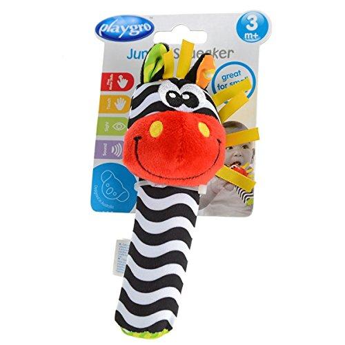 Playgro 40116 - Greifquietsche Zebra, bunt
